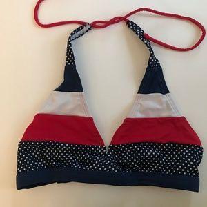 Justice Red White Blue America Halter Bikini Top